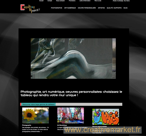 site internet visuel www.Creative market.fr
