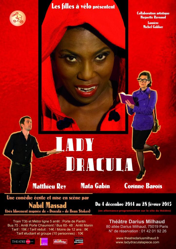 Piece de theatre Lady Dracula affiche